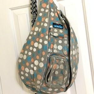 Kavu Cotton Dots Rope Sling Bag